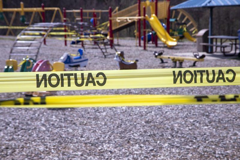 Playground equipment closed due to COVID 19 cm