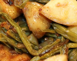 Friday Night Green Beans with Onions and Potatoes