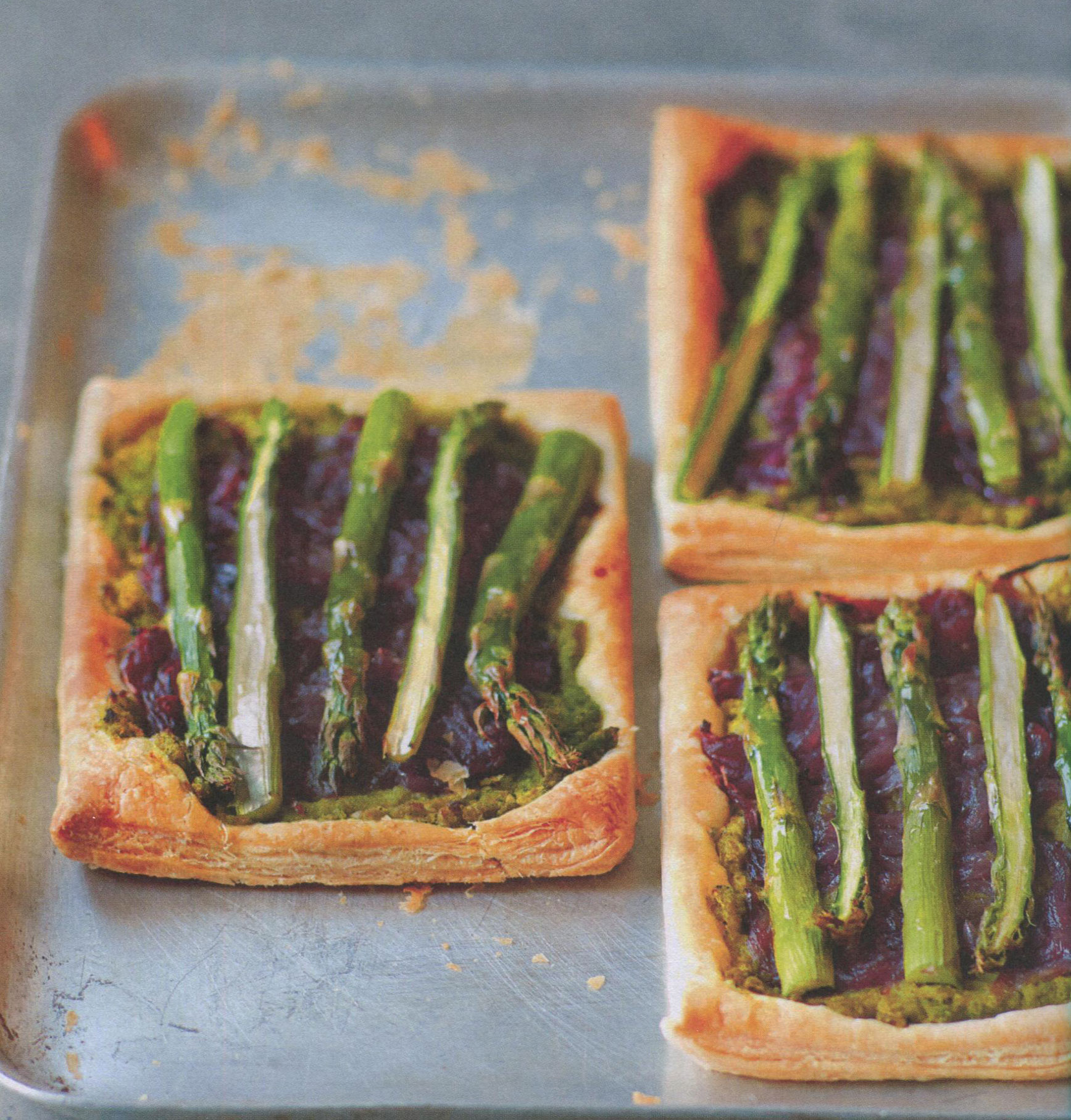 TBT Recipe: Asparagus, Minted Peas, and Caramelized Red Onion Tart