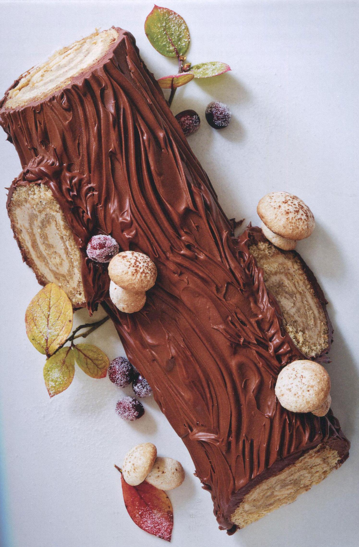 Chestnut Buche de Noel from Alice Medrich in Flour Flavors