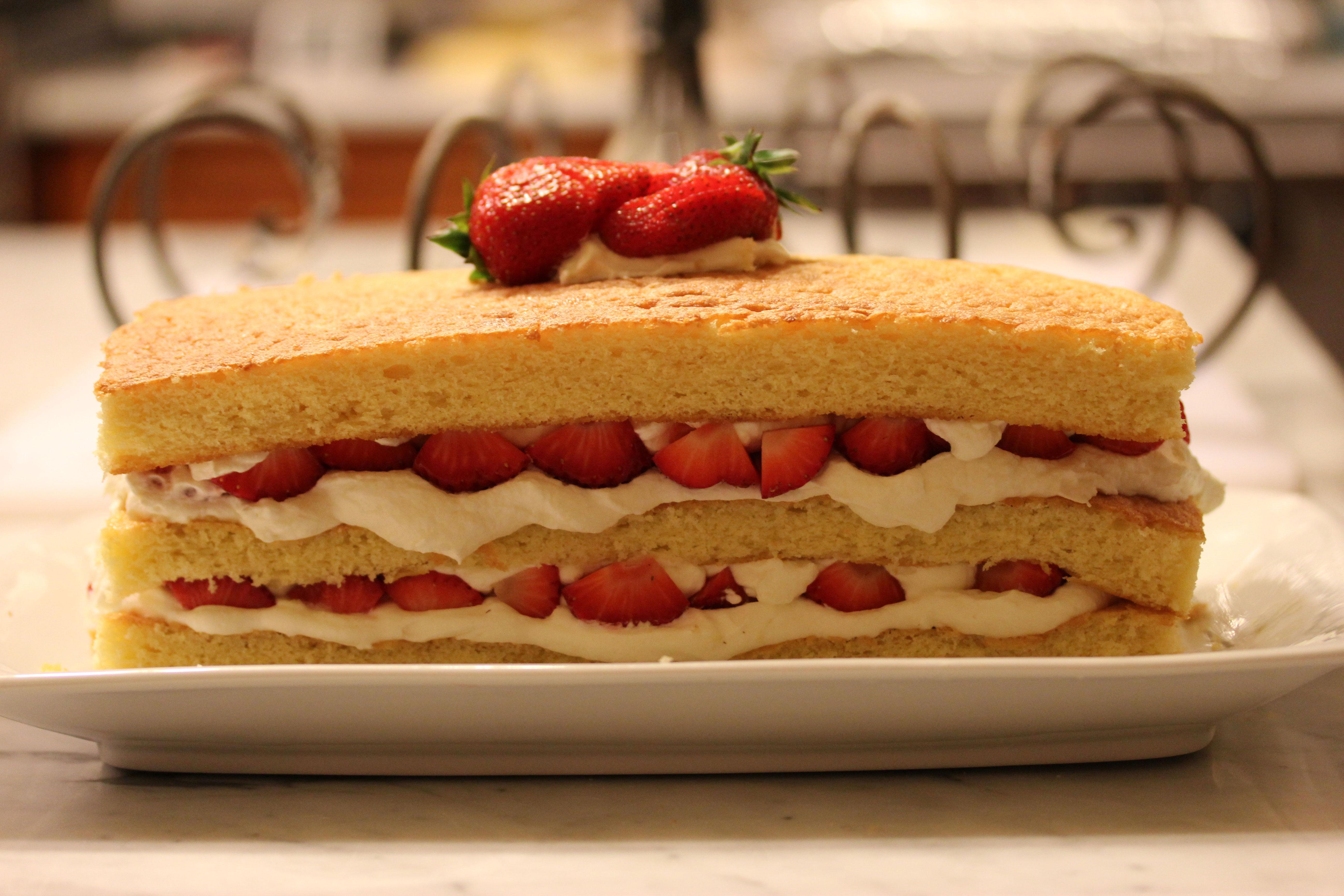 Strawberry and White Chocolate Buttermilk Cake