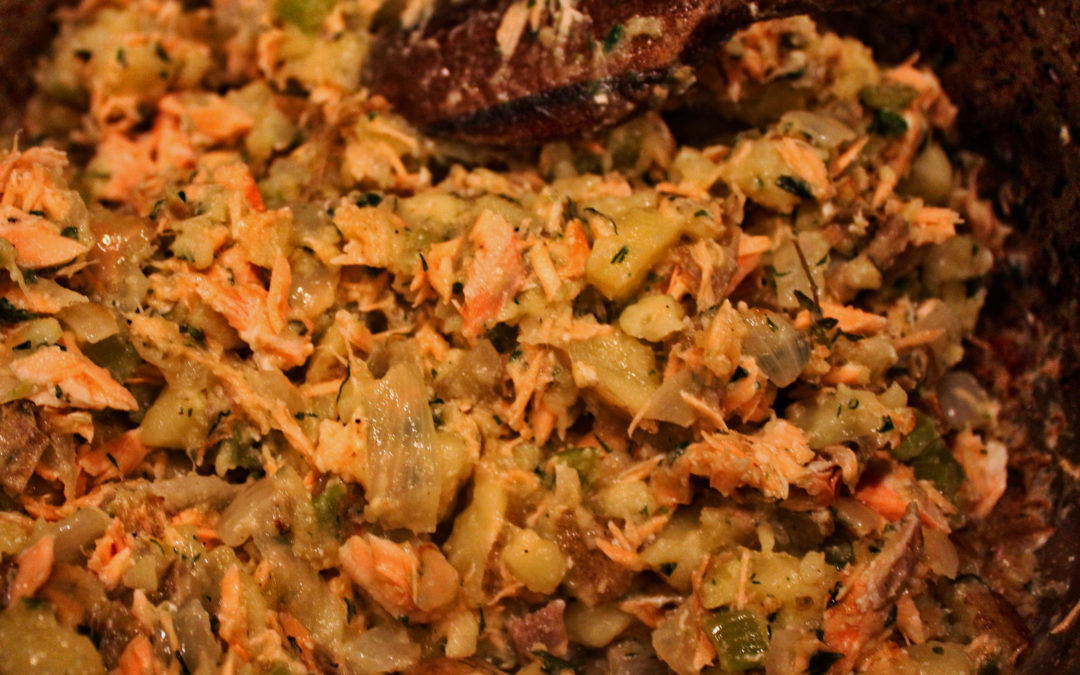 Salmon Hash with Yukon Gold Potatoes and Herbs from Diane Morgan