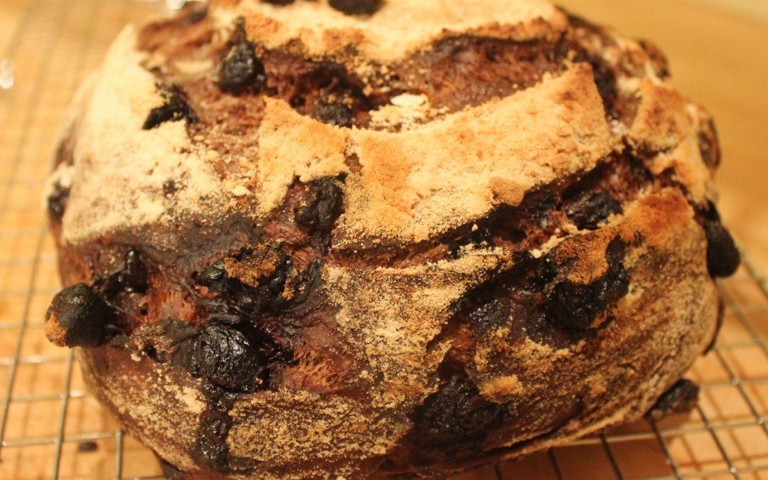 Chocolate-Cherry Sourdough Bread from Modernist Bread