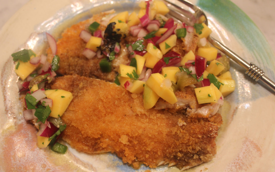 Todd Masson's Trout with Mango Salsa