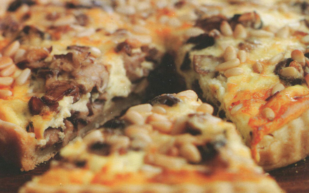 Mixed Mushroom Tart with Gruyère and Pine Nuts