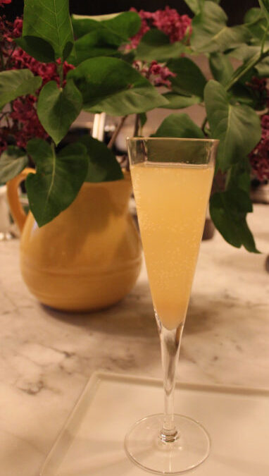 Sparkling Rhubarb Cocktail from Clodagh's Suppers
