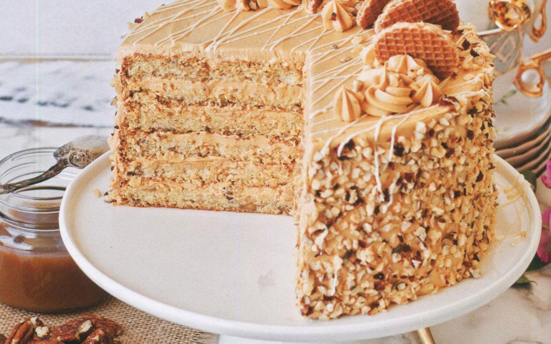 Caramel Honey Cake from The European Cake Cookbook