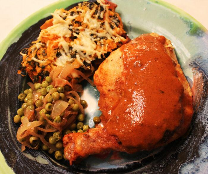 Pollo Enchipotlado or Chicken in a Creamy Chipotle Sauce