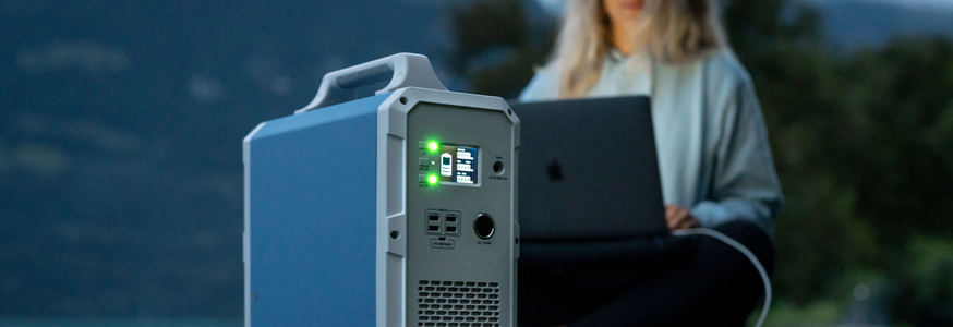 Bluetti Power Storage Unit EB240 powering units while camping