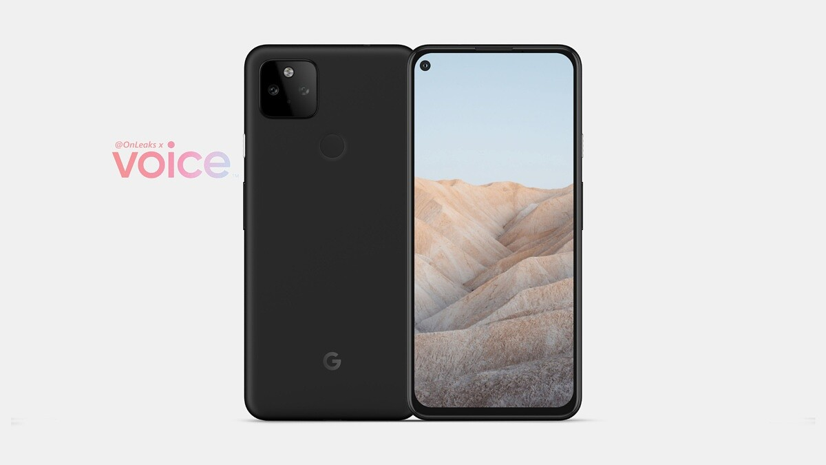 Leaked Render Image of the Pixel 5A from @OnLeaks