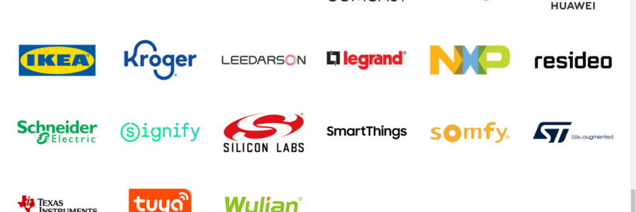 Screenshot of Project CHIP Company members including IKEA, Silicon Labs, Google, Texas Instruments