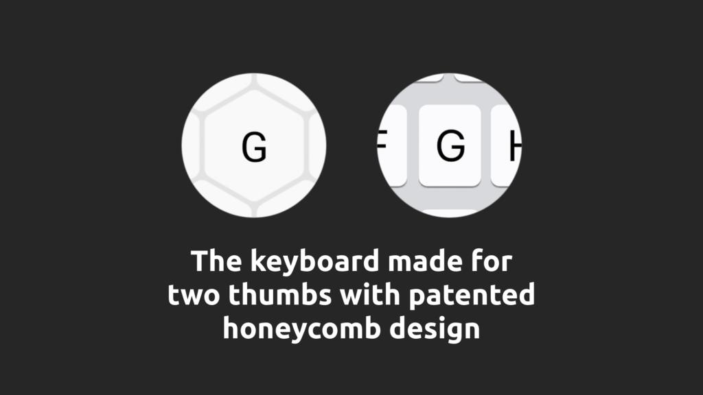 Typewise 3.0 AI Keyboard Honeycomb Design
