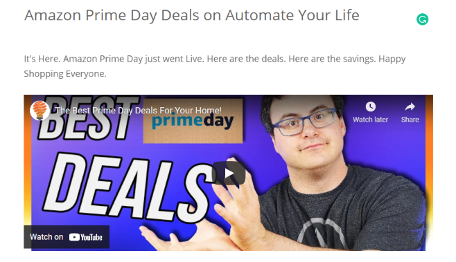 Amazon Prime Day Deals on Automate Your Life