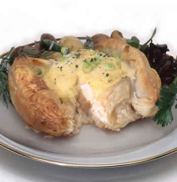 salmon and lobster en croute