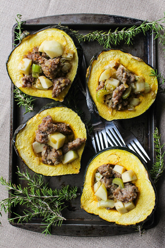 The Best of Whole30 Recipe Roundup l sausage stuffed acorn squash