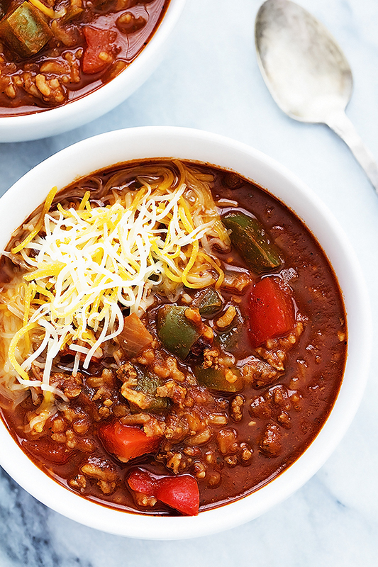 25 delicious ways to spice up National Pepper Month l stuffed pepper soup