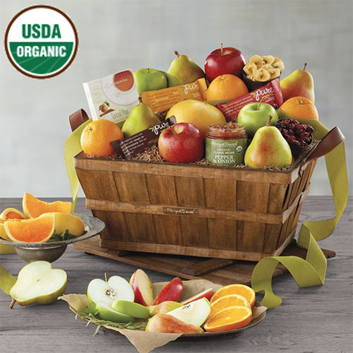 2018 Gift Guide for Food Lovers l deluxe organic fruit gift basket