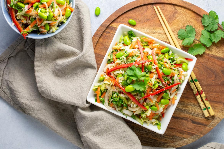 asian essentials, asian salad, slaw recipe, salad recipe