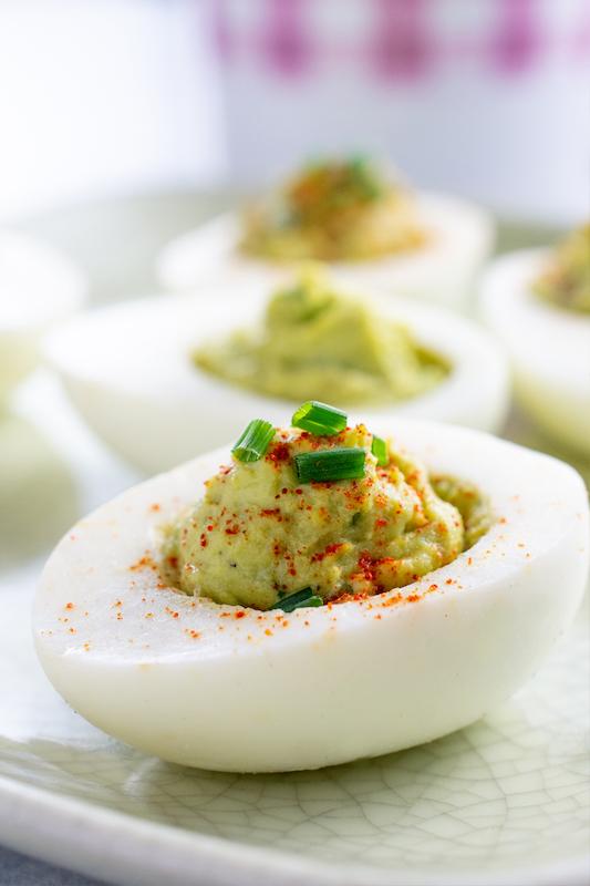 recipe for avocado deviled eggs, st. patrick's day, st. patty's day, green food, st. patrick's day recipe, deviled eggs, avocado recipe