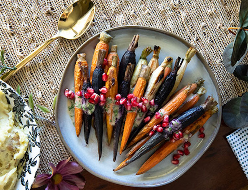 carrots, roasted carrots, side dish, easter recipe, plant based