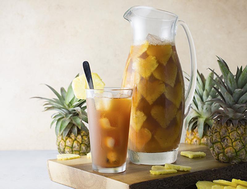 easter recipe, iced tea, pineapple