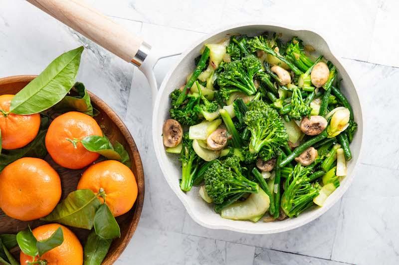 stir fry, teriyaki stir fry, pixie tangerines, easter recipe, plant based