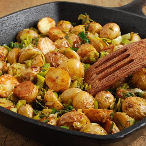 Roasted Dutch Yellow Potatoes Caramelized Leeks