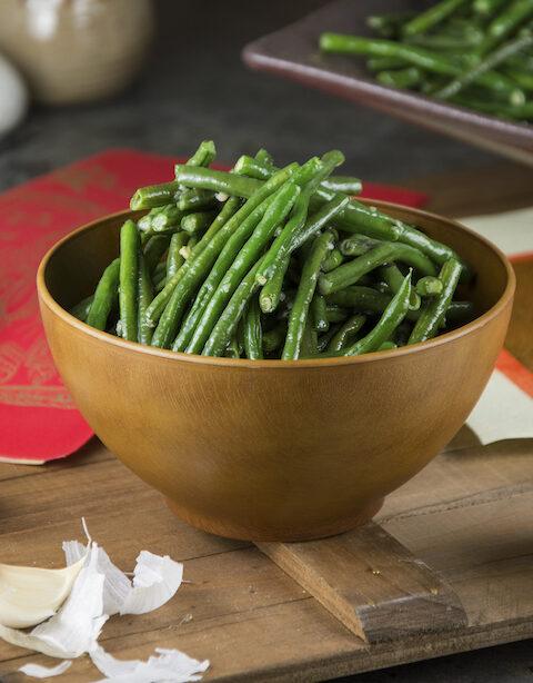 garlicky long beans