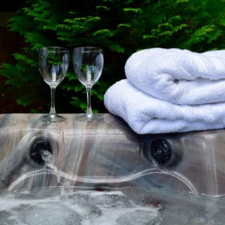 Spa towels at the Garden Cabin - The Cove at Fairview - Vacation Rentals - Asheville, NC