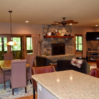The Huntley Cabin features an Open Layout - The Cove at Fairview Vacation Rentals - Asheville NC
