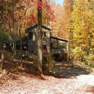Huntley Cabin in the Fall - The Cove at Fairview Vacation Rentals - Asheville NC