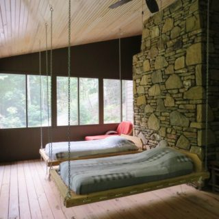 The Huntley features a Screened in Sleeping Porch - The Cove at Fairview Vacation Rentals - Asheville NC