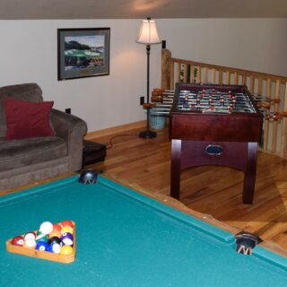 My Place pool table - The Cove at Fairview - Vacation Rentals- Asheville, North Carolina