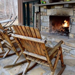 My Place has an outdoor fireplace - The Cove at Fairview - Vacation Rentals- Asheville, North Carolina