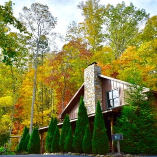 Exterior of My Place in the Fall - The Cove at Fairview - Vacation Rentals- Asheville, North Carolina