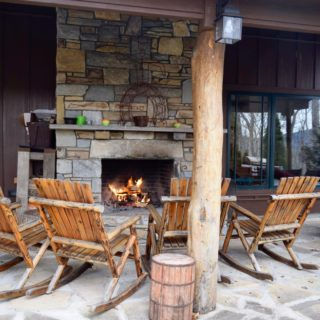 My Place has a covered patio - The Cove at Fairview - Vacation Rentals- Asheville, North Carolina