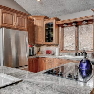 Fully equipped kitchen at Our House - The Cove at Fairview Vacation Rentals - Asheville NC