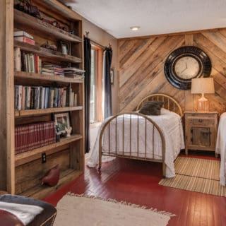 Western bedroom at Our House has single beds - The Cove at Fairview Vacation Rentals - Asheville NC