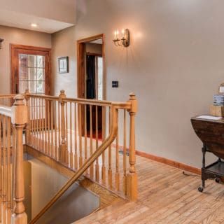 Stairway at Our House - The Cove at Fairview Vacation Rentals - Asheville NC