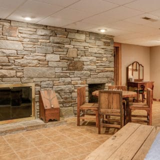 Handmade Wormy Chestnut Furniture - The Cove at Fairview Vacation Rentals - Asheville NC