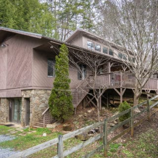 Exterior of Our House - The Cove at Fairview Vacation Rentals - Asheville NC