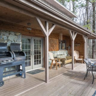 Front Porch at Our House - The Cove at Fairview Vacation Rentals - Asheville NC