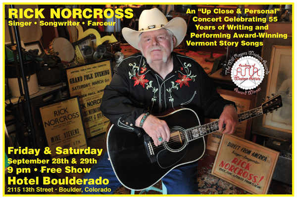 Rick Norcross Solo Performances - Hotel Boulderado Poster