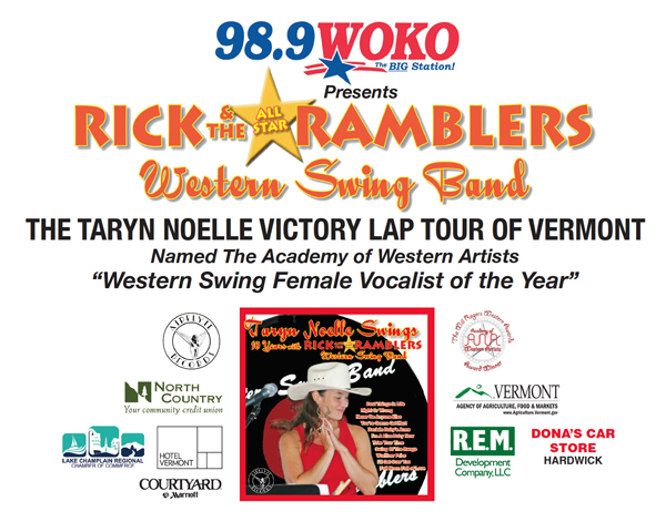 Vocalist Taryn Noelle with Rick and The All-Star Ramblers