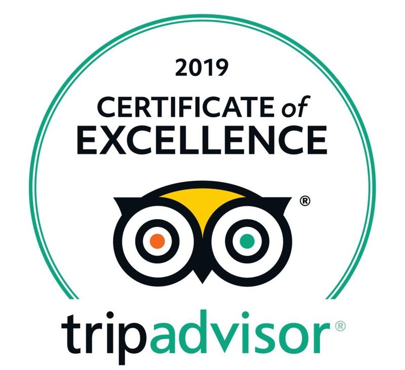 TripAdvisor Certificate of Excellence for Tamarind House