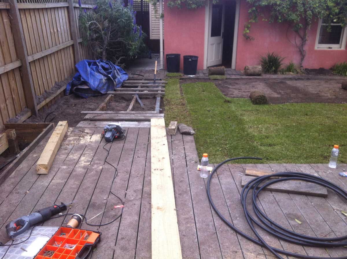 Before Landscaping in St Kilda West