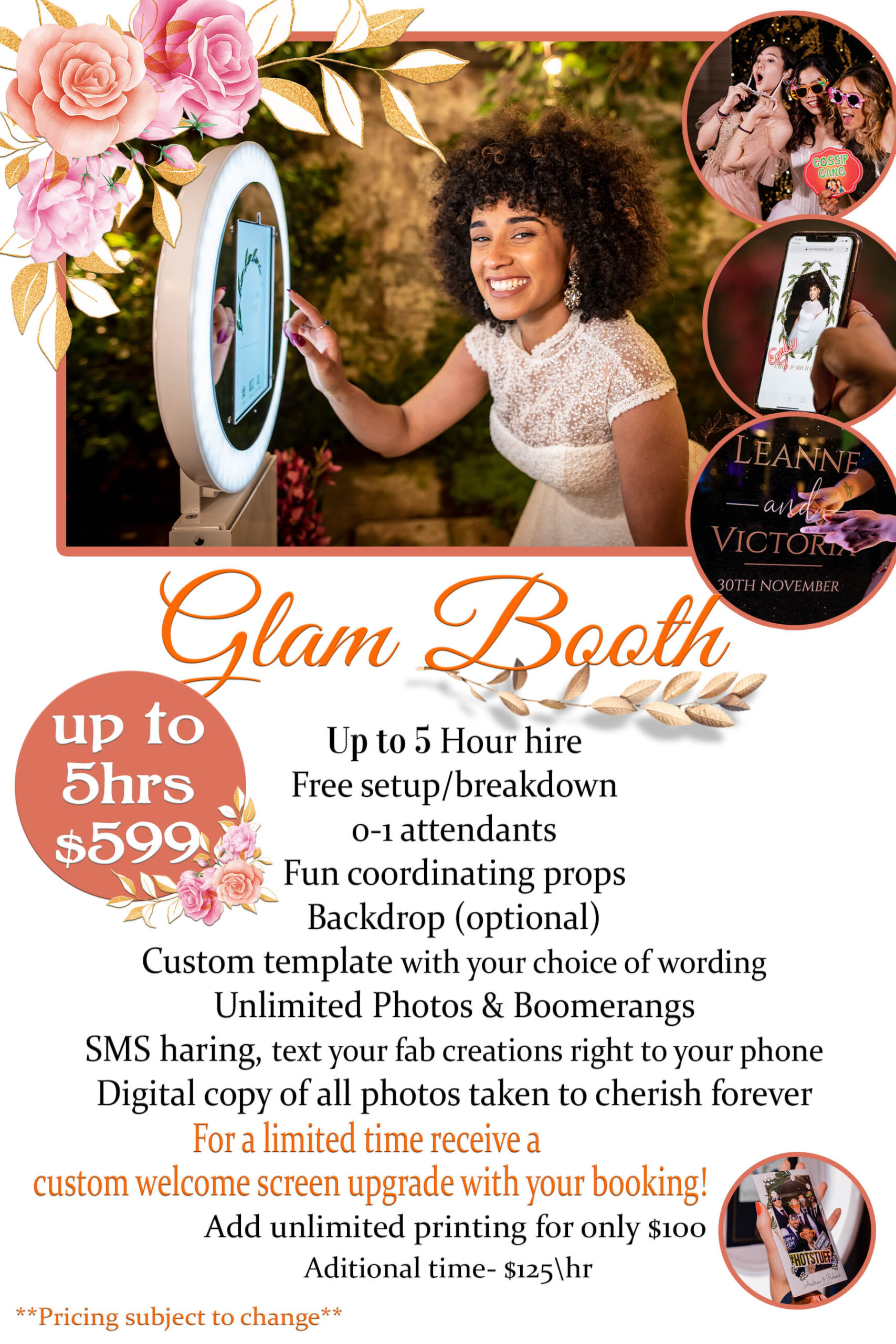 Glam booth ad