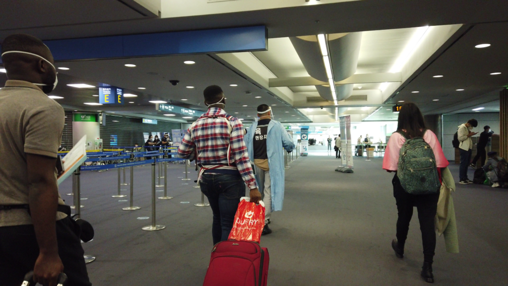 At Incheon Airport