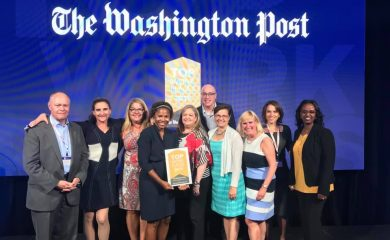Dev Technology Team at the Washington Post Top Workplaces event.