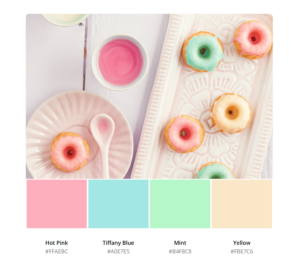 Example of canva's photo palette color picker